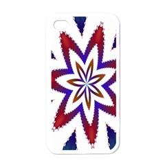 Fractal Flower Apple Iphone 4 Case (white) by Simbadda