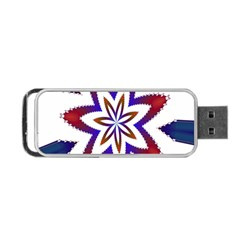 Fractal Flower Portable Usb Flash (one Side) by Simbadda