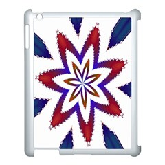 Fractal Flower Apple Ipad 3/4 Case (white) by Simbadda