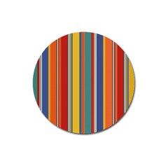 Stripes Background Colorful Magnet 3  (round) by Simbadda