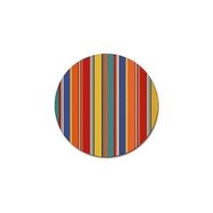 Stripes Background Colorful Golf Ball Marker (4 Pack) by Simbadda