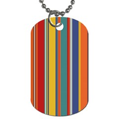 Stripes Background Colorful Dog Tag (two Sides) by Simbadda