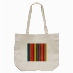 Stripes Background Colorful Tote Bag (cream) by Simbadda