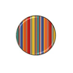 Stripes Background Colorful Hat Clip Ball Marker (10 Pack) by Simbadda