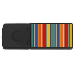 Stripes Background Colorful Usb Flash Drive Rectangular (4 Gb) by Simbadda