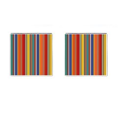 Stripes Background Colorful Cufflinks (square) by Simbadda
