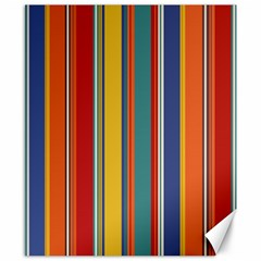 Stripes Background Colorful Canvas 8  X 10  by Simbadda