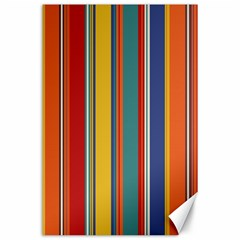 Stripes Background Colorful Canvas 24  X 36  by Simbadda