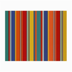 Stripes Background Colorful Small Glasses Cloth (2 Side) by Simbadda
