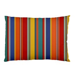Stripes Background Colorful Pillow Case by Simbadda