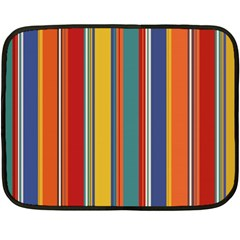 Stripes Background Colorful Double Sided Fleece Blanket (mini)  by Simbadda