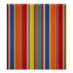 Stripes Background Colorful Shower Curtain 66  X 72  (large)  by Simbadda