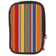 Stripes Background Colorful Compact Camera Cases by Simbadda