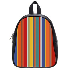 Stripes Background Colorful School Bags (small)  by Simbadda
