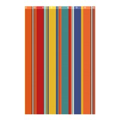 Stripes Background Colorful Shower Curtain 48  X 72  (small)  by Simbadda