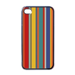 Stripes Background Colorful Apple Iphone 4 Case (black) by Simbadda