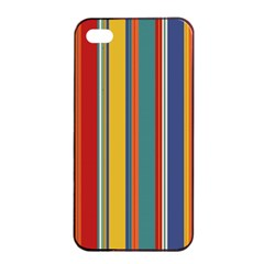 Stripes Background Colorful Apple Iphone 4/4s Seamless Case (black) by Simbadda