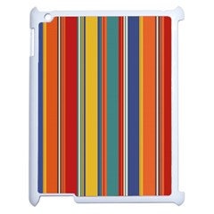 Stripes Background Colorful Apple Ipad 2 Case (white) by Simbadda