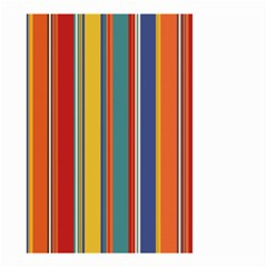 Stripes Background Colorful Small Garden Flag (two Sides) by Simbadda