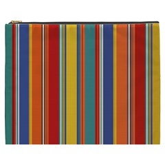 Stripes Background Colorful Cosmetic Bag (xxxl)  by Simbadda