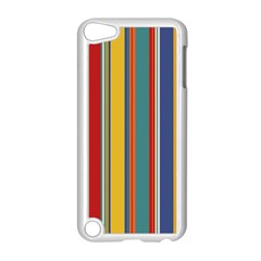 Stripes Background Colorful Apple Ipod Touch 5 Case (white) by Simbadda