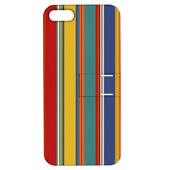 Stripes Background Colorful Apple Iphone 5 Hardshell Case With Stand by Simbadda