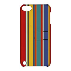 Stripes Background Colorful Apple Ipod Touch 5 Hardshell Case With Stand by Simbadda
