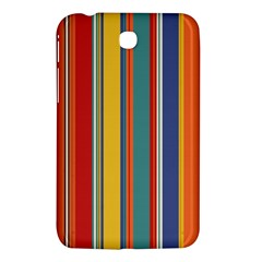 Stripes Background Colorful Samsung Galaxy Tab 3 (7 ) P3200 Hardshell Case  by Simbadda