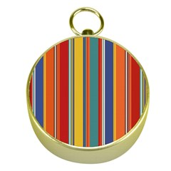 Stripes Background Colorful Gold Compasses by Simbadda