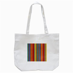 Stripes Background Colorful Tote Bag (white) by Simbadda