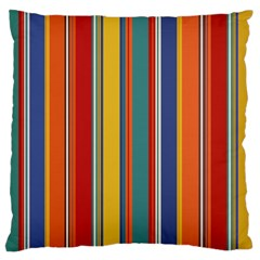 Stripes Background Colorful Large Flano Cushion Case (two Sides) by Simbadda