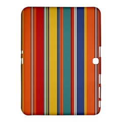 Stripes Background Colorful Samsung Galaxy Tab 4 (10 1 ) Hardshell Case  by Simbadda