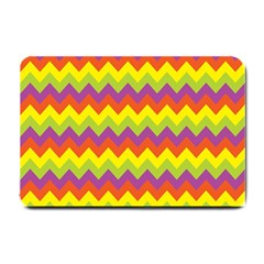 Colorful Zigzag Stripes Background Small Doormat  by Simbadda