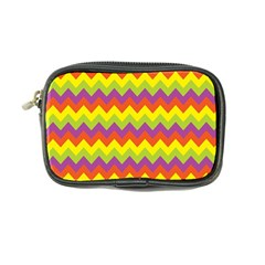 Colorful Zigzag Stripes Background Coin Purse by Simbadda