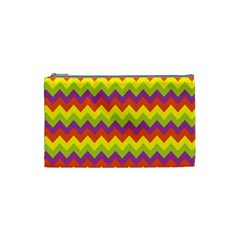 Colorful Zigzag Stripes Background Cosmetic Bag (small)  by Simbadda