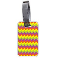 Colorful Zigzag Stripes Background Luggage Tags (one Side)  by Simbadda