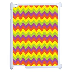 Colorful Zigzag Stripes Background Apple Ipad 2 Case (white) by Simbadda