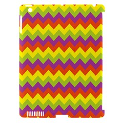 Colorful Zigzag Stripes Background Apple Ipad 3/4 Hardshell Case (compatible With Smart Cover) by Simbadda