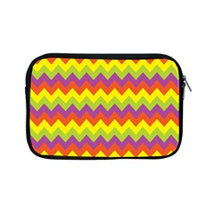 Colorful Zigzag Stripes Background Apple Ipad Mini Zipper Cases by Simbadda