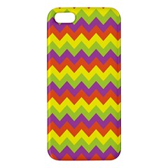 Colorful Zigzag Stripes Background Iphone 5s/ Se Premium Hardshell Case by Simbadda