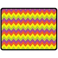 Colorful Zigzag Stripes Background Double Sided Fleece Blanket (large)  by Simbadda