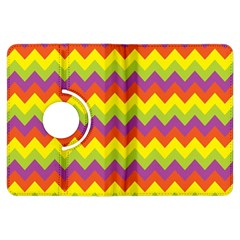 Colorful Zigzag Stripes Background Kindle Fire Hdx Flip 360 Case by Simbadda