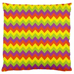 Colorful Zigzag Stripes Background Standard Flano Cushion Case (One Side) by Simbadda