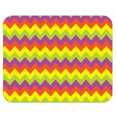Colorful Zigzag Stripes Background Double Sided Flano Blanket (medium)  by Simbadda