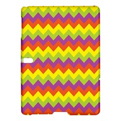 Colorful Zigzag Stripes Background Samsung Galaxy Tab S (10 5 ) Hardshell Case  by Simbadda