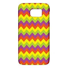 Colorful Zigzag Stripes Background Galaxy S6 by Simbadda