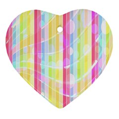 Abstract Stripes Colorful Background Ornament (heart) by Simbadda