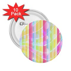 Abstract Stripes Colorful Background 2 25  Buttons (10 Pack)  by Simbadda