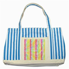 Abstract Stripes Colorful Background Striped Blue Tote Bag by Simbadda