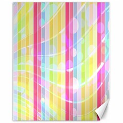 Abstract Stripes Colorful Background Canvas 16  X 20   by Simbadda